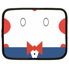 Peppermint Butler Wallpaper Face Netbook Case (xl)  by Alisyart