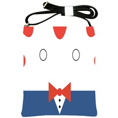Peppermint Butler Wallpaper Face Shoulder Sling Bags by Alisyart