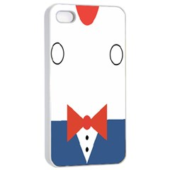 Peppermint Butler Wallpaper Face Apple Iphone 4/4s Seamless Case (white) by Alisyart