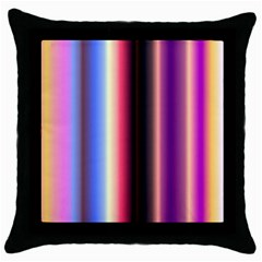 Multi Color Vertical Background Throw Pillow Case (black) by Simbadda
