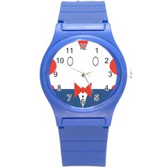 Peppermint Butler Wallpaper Face Round Plastic Sport Watch (s) by Alisyart