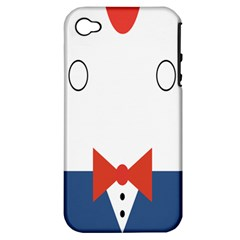 Peppermint Butler Wallpaper Face Apple Iphone 4/4s Hardshell Case (pc+silicone) by Alisyart
