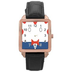 Peppermint Butler Wallpaper Face Rose Gold Leather Watch  by Alisyart