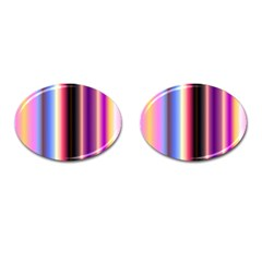 Multi Color Vertical Background Cufflinks (oval) by Simbadda