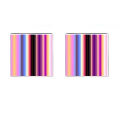 Multi Color Vertical Background Cufflinks (square) by Simbadda
