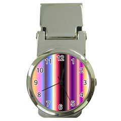 Multi Color Vertical Background Money Clip Watches by Simbadda
