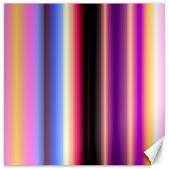 Multi Color Vertical Background Canvas 12  X 12   by Simbadda