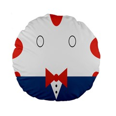 Peppermint Butler Wallpaper Face Standard 15  Premium Flano Round Cushions by Alisyart