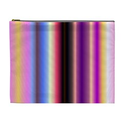 Multi Color Vertical Background Cosmetic Bag (xl) by Simbadda