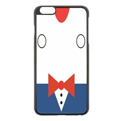 Peppermint Butler Wallpaper Face Apple Iphone 6 Plus/6s Plus Black Enamel Case