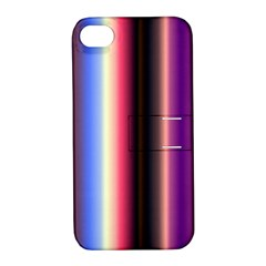 Multi Color Vertical Background Apple Iphone 4/4s Hardshell Case With Stand by Simbadda