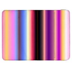 Multi Color Vertical Background Samsung Galaxy Tab 7  P1000 Flip Case by Simbadda