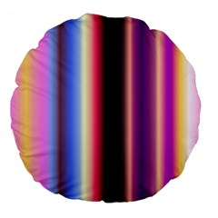 Multi Color Vertical Background Large 18  Premium Flano Round Cushions by Simbadda