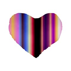 Multi Color Vertical Background Standard 16  Premium Flano Heart Shape Cushions by Simbadda