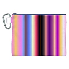 Multi Color Vertical Background Canvas Cosmetic Bag (xxl) by Simbadda