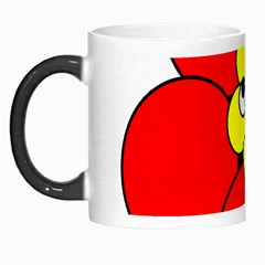 Poppy Smirk Face Flower Red Yellow Morph Mugs by Alisyart