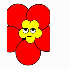 Poppy Smirk Face Flower Red Yellow Small Garden Flag (two Sides) by Alisyart