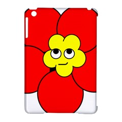 Poppy Smirk Face Flower Red Yellow Apple Ipad Mini Hardshell Case (compatible With Smart Cover) by Alisyart