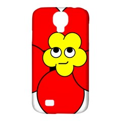 Poppy Smirk Face Flower Red Yellow Samsung Galaxy S4 Classic Hardshell Case (pc+silicone) by Alisyart