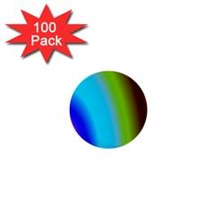 Multi Color Stones Wall Multi Radiant 1  Mini Buttons (100 Pack)  by Simbadda
