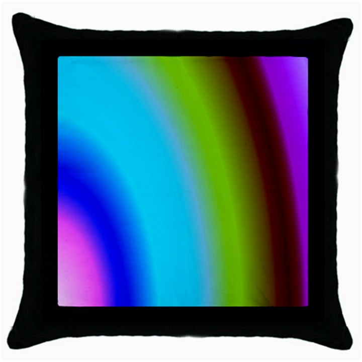 Multi Color Stones Wall Multi Radiant Throw Pillow Case (Black)