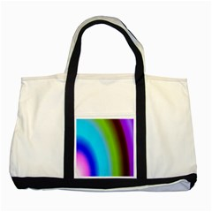 Multi Color Stones Wall Multi Radiant Two Tone Tote Bag by Simbadda