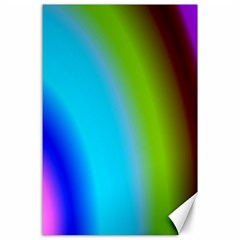 Multi Color Stones Wall Multi Radiant Canvas 24  X 36  by Simbadda