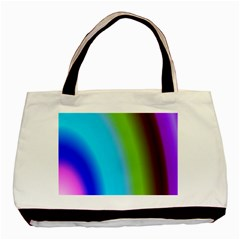 Multi Color Stones Wall Multi Radiant Basic Tote Bag (two Sides) by Simbadda