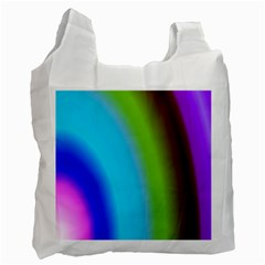 Multi Color Stones Wall Multi Radiant Recycle Bag (two Side)  by Simbadda