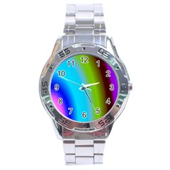 Multi Color Stones Wall Multi Radiant Stainless Steel Analogue Watch by Simbadda
