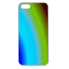 Multi Color Stones Wall Multi Radiant Apple Seamless iPhone 5 Case (Clear)