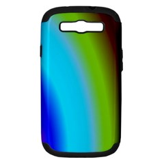 Multi Color Stones Wall Multi Radiant Samsung Galaxy S Iii Hardshell Case (pc+silicone) by Simbadda