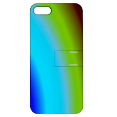 Multi Color Stones Wall Multi Radiant Apple Iphone 5 Hardshell Case With Stand by Simbadda