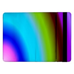 Multi Color Stones Wall Multi Radiant Samsung Galaxy Tab Pro 12 2  Flip Case by Simbadda