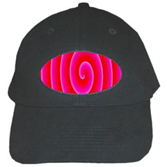 Pink Hypnotic Background Black Cap by Simbadda