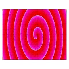 Pink Hypnotic Background Rectangular Jigsaw Puzzl by Simbadda