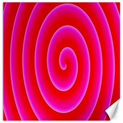 Pink Hypnotic Background Canvas 16  X 16   by Simbadda