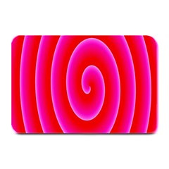 Pink Hypnotic Background Plate Mats by Simbadda