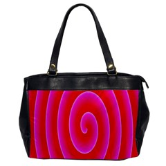 Pink Hypnotic Background Office Handbags by Simbadda
