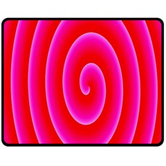 Pink Hypnotic Background Fleece Blanket (medium)  by Simbadda