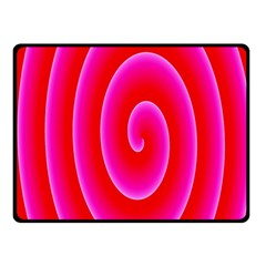 Pink Hypnotic Background Fleece Blanket (small) by Simbadda