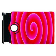 Pink Hypnotic Background Apple Ipad 2 Flip 360 Case by Simbadda