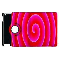 Pink Hypnotic Background Apple Ipad 3/4 Flip 360 Case by Simbadda