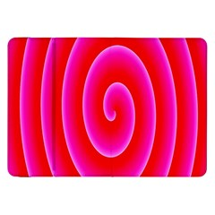 Pink Hypnotic Background Samsung Galaxy Tab 8 9  P7300 Flip Case by Simbadda