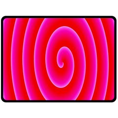 Pink Hypnotic Background Double Sided Fleece Blanket (large)  by Simbadda