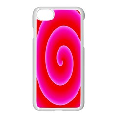 Pink Hypnotic Background Apple Iphone 7 Seamless Case (white)
