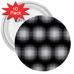 Black And White Modern Wallpaper 3  Buttons (10 pack)  by Simbadda