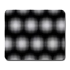 Black And White Modern Wallpaper Large Mousepads by Simbadda