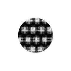 Black And White Modern Wallpaper Golf Ball Marker (10 Pack) by Simbadda