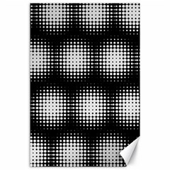 Black And White Modern Wallpaper Canvas 24  X 36  by Simbadda